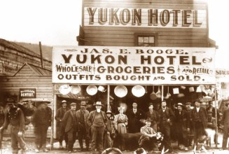 Fun Fact: The real way to make money during the Gold Rush was to open up a business in a boom town like Dawson City, whose population grew from 500 to 30,000 in the space of two years.