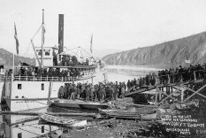 The rush came to an end in 1899 when news about the discovery of gold up in Nome, Alaska came out, Klondikers, who had given up on the Yukon but not on their dreams of gold yet, headed north to continue their hunt.