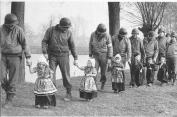 Technically this is a picture of American troops with Dutch children, but it was too adorable not to include.