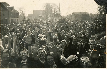 Ermelo, Netherlands was one of the early cities to be liberated. This picture was taken on April 17, 1945.
