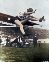Ethel Catherwood won the gold medal in the women's high jump at the 1928 Amsterdam Games.