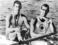 Roger Jackson and George Hungerford won gold win in the rowing event at the 1964 Tokyo Games. Most Canadian journalists didn't think they had a chance, so many did not show up for the event. Imagine their surprise when the results came out! (CP Photo/COC)
