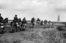 The Canadian Light Horse heading towards Vimy Ridge