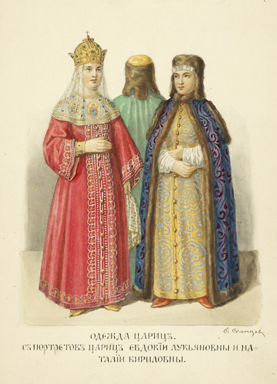 The outfits of Russian tsarinas