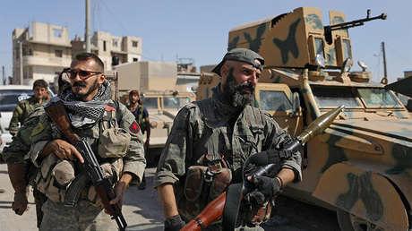 Miembros de las Fuerzas Democráticas de Siria en Raqa, 16 octubre de 2017.