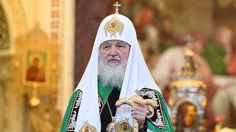 El patriarca Kiril durante una misa en la Catedral de Cristo Salvador en Moscú, el 20 de noviembre del 2017.