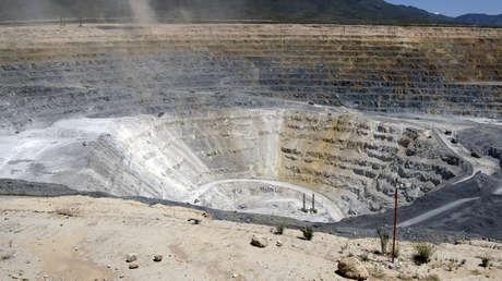 Vista general de una mina de oro en Peñasquito, Zacatecas, México.