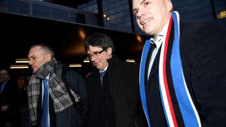 Carles Puigdemont llega a Copenhague, Dinamarca, el 22 de enero de 2018.