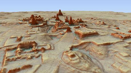 Imagen de la ciudad de Tikal 3D del sureste.