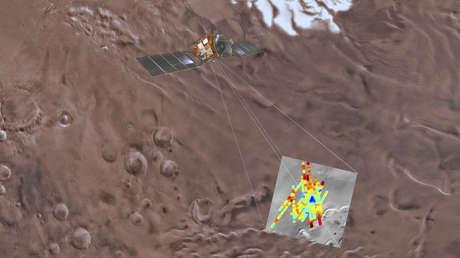 La sonda espacial Mars Express explora el polo sur de Marte.
