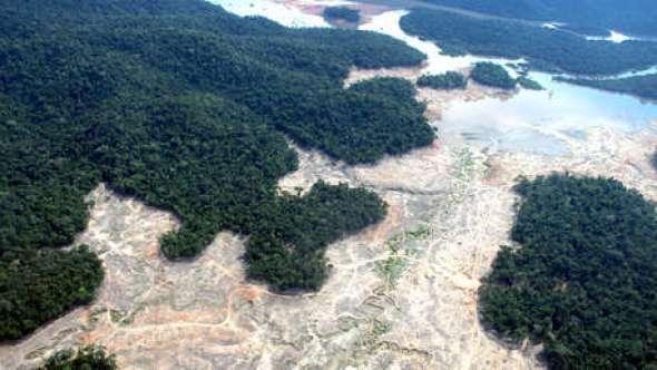 Zonas deforestadas cerca del Parque Nacional de Juruena en Brasil. 23 de marzo 2017.