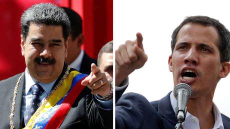 Nicolás Maduro y Juan Guaidó.