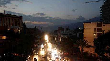 Vista general de la ciudad durante un segundo día de apagón en Caracas, Venezuela, 9 de marzo de 2019.