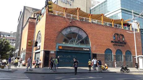 Exterior de una estación de metro en Caracas, Venezuela, 25 de marzo de 2019.