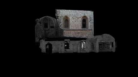 Una imagen fija del video que demuestra el modelo 3D del Cenáculo