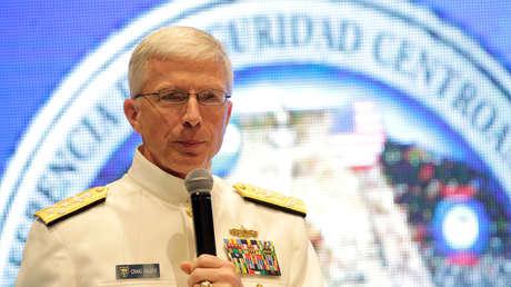Craig Faller, almirante de la Marina de EE.UU., en Tegucigalpa (Honduraas) el 7 de mayo de 2019.