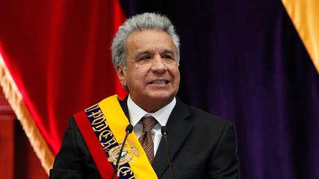 El presidente de Ecuador, Lenín Moreno, en la Asamblea Nacional en Quito, 24 de mayo de 2019.