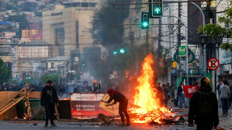 Resultado de imagen para valparaiso chile protestas