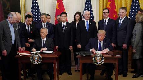 EE.UU. y China firman la 'fase uno' de su nuevo acuerdo comercial