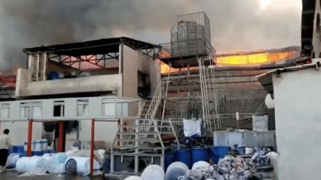 Irán: Arde un área industrial cerca de Teherán, en medio de misteriosos incendios y explosiones en el país (VIDEO)