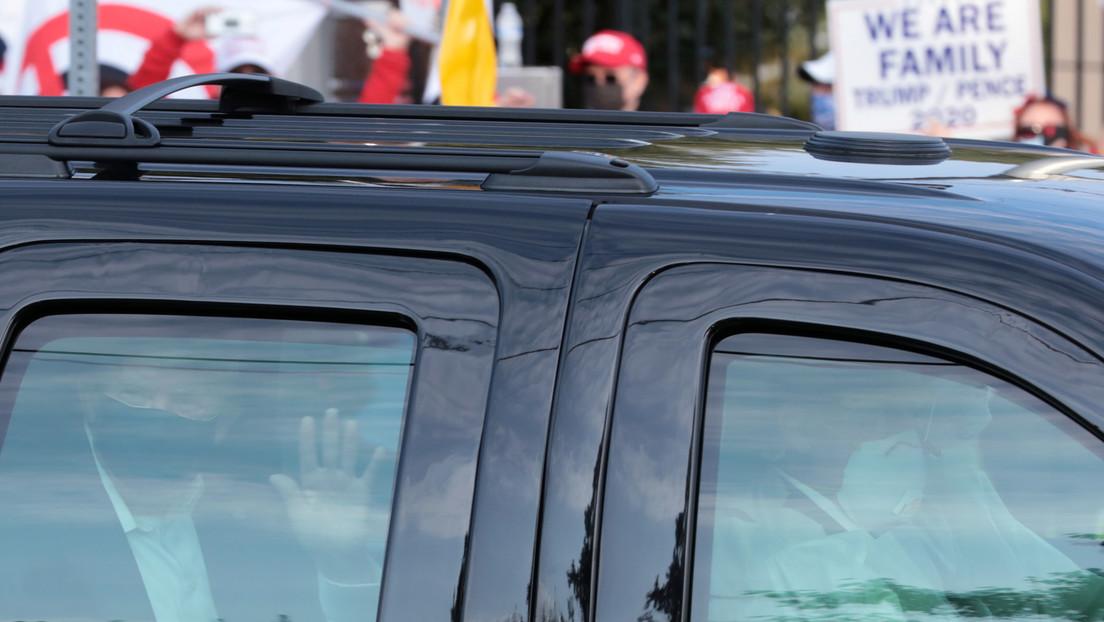 """Trump sale del hospital Walter Reed para hacer una """"visita sorpresa"""" a sus simpatizantes (VIDEO)"""