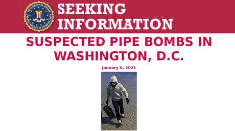 El FBI ofrece 50.000 dólares por información de los sospechosos que colocaron bombas cerca del Capitolio