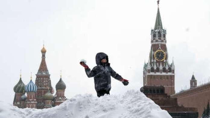 El centro de Moscú. 13 de febrero de 2021.