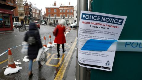Warnhinweis der Polizei in Salisbury, nachdem Teile der Stadt aus Sicherheitsgründen abgesperrt worden waren.