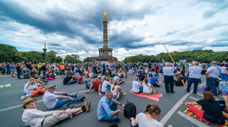 Protestdemonstration der Corona-Gegner. 29 August 2020
