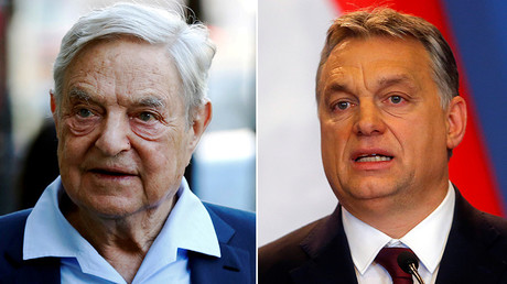 George Soros (L) and Victor Orban © Reuters