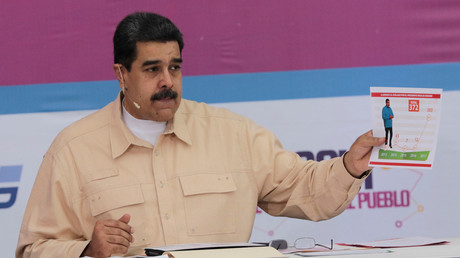 Venezuela's President Nicolas Maduro speaks during his weekly radio and TV broadcast