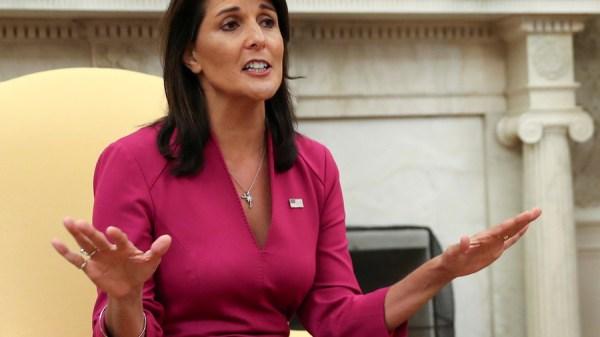 Nikki Haley's shock resignation prompts various theories ...
