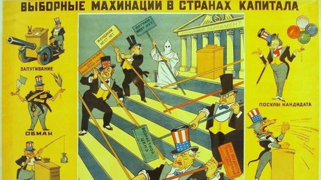 5be1aa56fc7e93bf018b4624 Deja vu? Was the New Yorker just inspired by an old soviet cartoon on US elections?