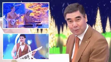 5c212df9fc7e93012f8b4626 Turkmen leader plays and sings own song… in German? (VIDEO)