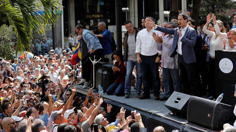 5c394bb1fc7e93ad4f8b45fb Venezuelan opposition seeks to depose Maduro in US-backed 'democratic' coup