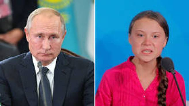 'She is kind, but emotions should not control this issue': Putin takes on Greta Thunberg's UN rant about climate & world powers