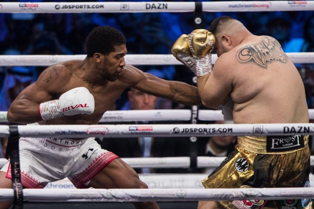 5decc4a6203027542735118b Andy Ruiz Jr vs Anthony Joshua 2 in pictures: 16 great shots from the 'Clash on the Dunes' as Joshua reclaims his titles (PHOTOS)