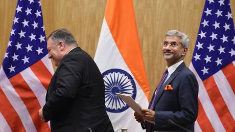 External Affairs Minister of India Subrahmanyam Jaishankar with US Secretary of State Mike Pompeo, June 26, 2019, New Delhi, India © Getty Images / Arvind Yadav / Hindustan Times