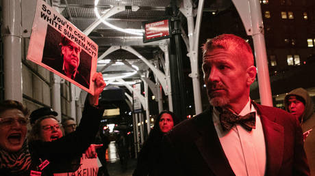 Erik Prince arrives at New York Young Republican Club Gala at The Yale Club of New York City