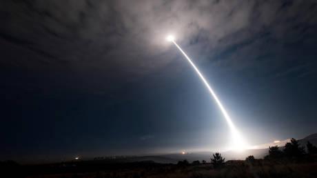 FILE PHOTO An unarmed Minuteman III intercontinental ballistic missile ©Reuters/ US Air Force