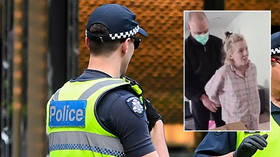 Australijska policja `` ZADOWOLONA '' z aresztowania kobiety w ciąży z powodu komunikatu przeciw zamknięciu.  Opisała to jako przerażające porwanie