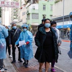 Hong Kong has ordered thousands of residents to remain in their homes ahead of the city's first Covid-19 lockdown