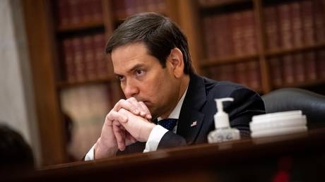 Senator Marco Rubio is shown during a committee hearing in June.