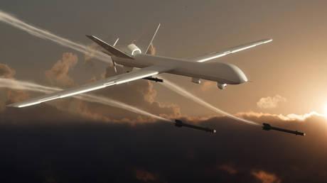 Unmanned Aerial Vehicle (UAV), 3d rendered image