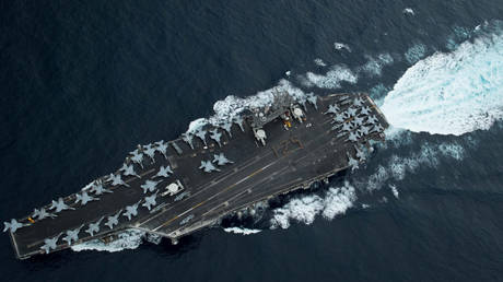 FILE PHOTO. The USS Theodore Roosevelt.