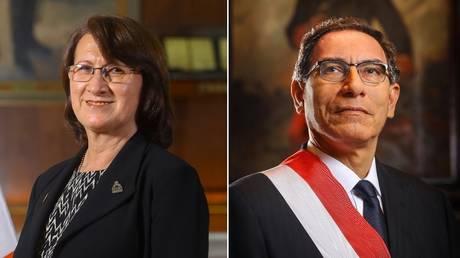 Pilar Mazzetti (L) and Martin Vizcarra (R). Photos courtesy of the Presidency of Peru.