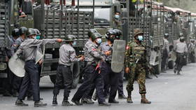Two people killed as Myanmar police are accused of firing at anti-coup protesters