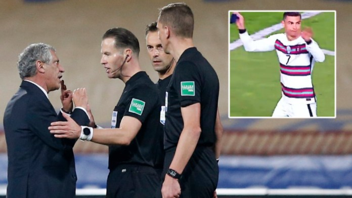 'We're with you': Fans stunned as raging Ronaldo storms off in Serbia, throws armband to floor amid refereeing horror show (VIDEO)