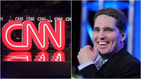 FILE PHOTOS: (L) A CNN logo is seen at an event in Pennsylvania; (R) WarnerMedia CEO Jason Kilar.