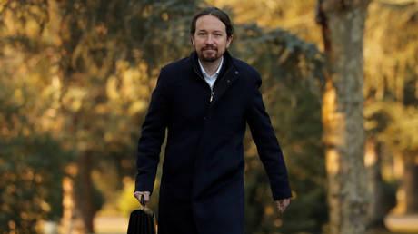 Spain's Deputy Prime Minister Pablo Iglesias, January 14, 2020